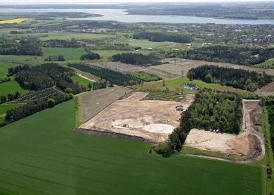 BioDane Luftfoto - Oversigt over byggepladsen, Hadsund
